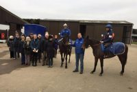 Owners with their horse (and 5yo Dragons Voice) and trainer David Menuisier