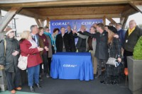 Delighted owners collect their prize