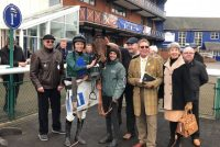 Delighted owners with their winner and jockey Niall Houlihan