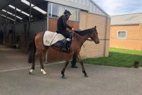Lady De Vega heads out to exercise