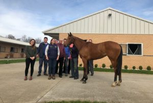 Owners with their filly