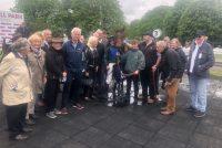 Owners with their winner and jockey Jamie Moore