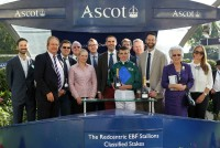 A full house of owners enjoy a winner at Ascot Racecourse