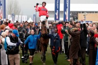 Coneygree winning the Gold Cup at the Cheltenham Festival in 2015