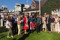 Delighted Owners pose with their 5-time winner