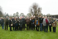 Loyal and long standing owners of Fruity O'Rooney at Fontwell Park