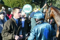 Philip Hide who has done a lot of the work at home with this horse gets the debrief from our jockey