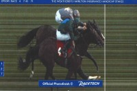 Good Luck Charm (nearside) finishes a second - how can they call a winner!