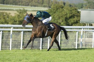 Good Luck Charm wins in style under the Champion jockey