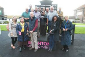 Owners on the podium to collect their winning prize