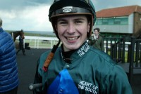 A smiley winning jockey, Hector Crouch