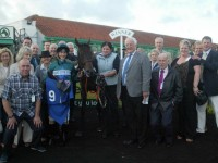 Interakt in the winners enclosure once again at Brighton Racecourse