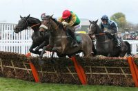 Clondaw Cian winning at Cheltenham last season for Suzy