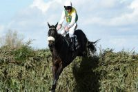 Many Clouds and Leighton Aspell on their way to win the Crabbies Grand National