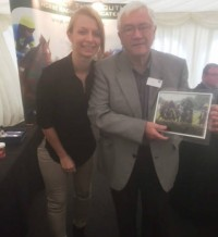 Brian Hart - owner of Royal Battalion winning his prize from Fontwell Park