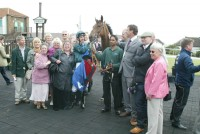 The icing on the cake of a fabulous day with Good Luck Charm winning!