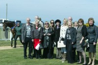 Owners in the parade ring at Jersey Racecourse