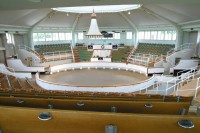 The huge sales ring at Newmarket
