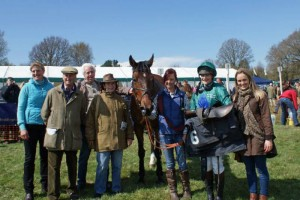 All smiles with winner Peplum and jockey Hannah Grissell at Parham
