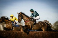 Our first Point to Point winner Peplum at Parham in April 2013