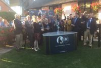 All cheers from Raven's Lady's owners and trainer!