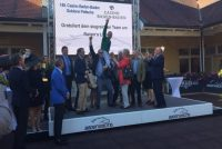 Owners celebrate their victory with Gerald Mosse!