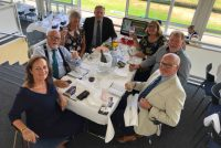 Owners enjoying their lunch in the Champions Room at Baden-Baden Racecourse