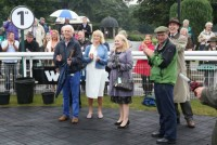 Owners cheering their horse into the Winners Enclosure
