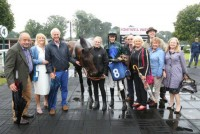 Happy owners with their horse