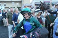 A smiley Jamie Moore after the win