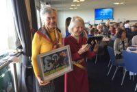 Mrs Stoneage & Ms Barron all smiles thanks to Dragons Voice!