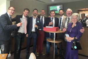 Sir Robert Cheval's owners enjoy a winner at Ascot Racecourse!