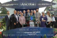 Sir Robert Cheval's owners collect their prize with jockey Martin Harley