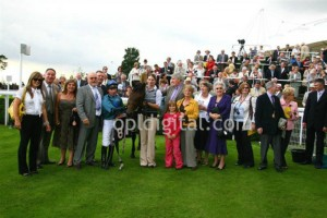 A fabulous picture of South Cape, jockey Tadgh O'Shea and the thrilled owners!