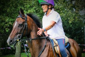Ex-racehorse Mohanad looking brilliant under his owner Lin Stone