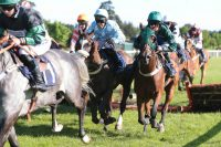 Jockey Andrew Tinkler gave Waikiki Waves an excellent ride
